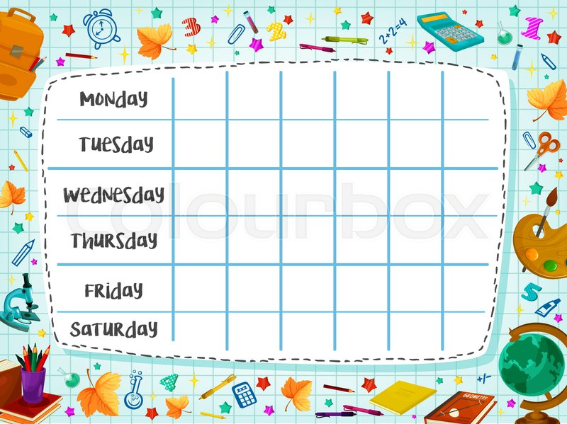 timetable school template