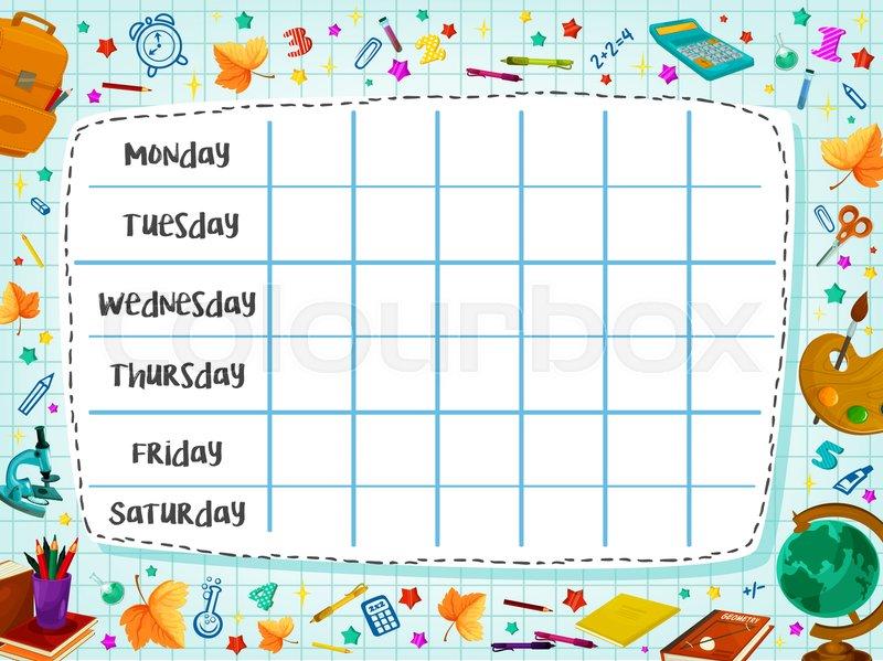 Great school timetable templates » saxoprint blog uk.