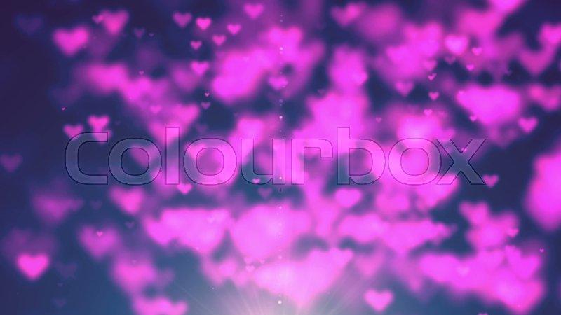 Colorful Heart Bokeh Loop Happy Valentine Background. Full HD ...