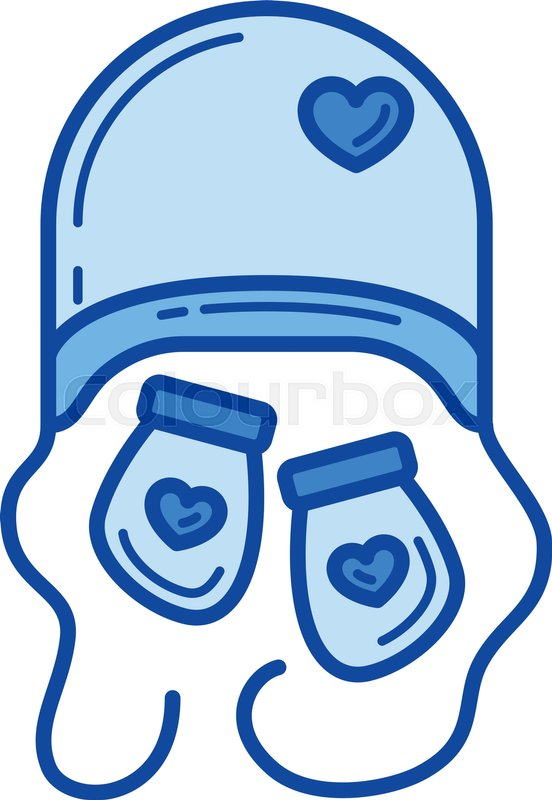 bfaaa505ec2 Newborn hat vector line icon isolated ...