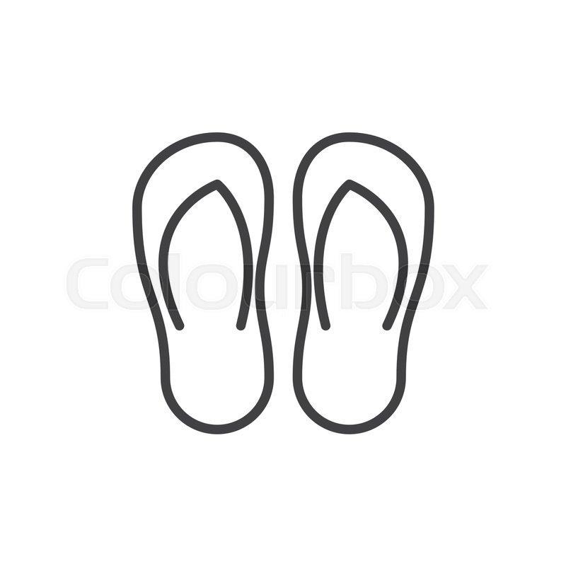 77b354f25 Flip flops line icon