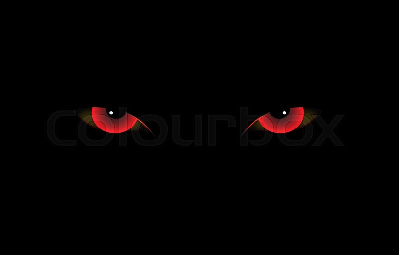 Black Cat With Pink Scary Eyes: Halloween, Kranium, Orange