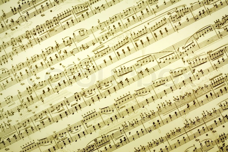 Vintage Music Note Wallpapers For Android Harmony: Music Notes Background In Retro