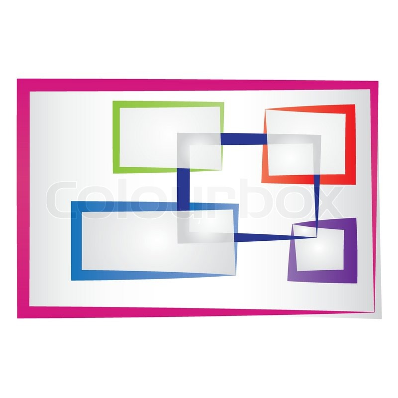 Abstract colored frames | Stock Vector | Colourbox