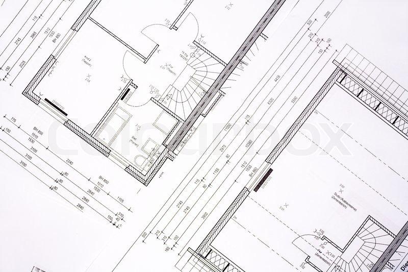 Family House Plans - Background | Stock Photo | Colourbox