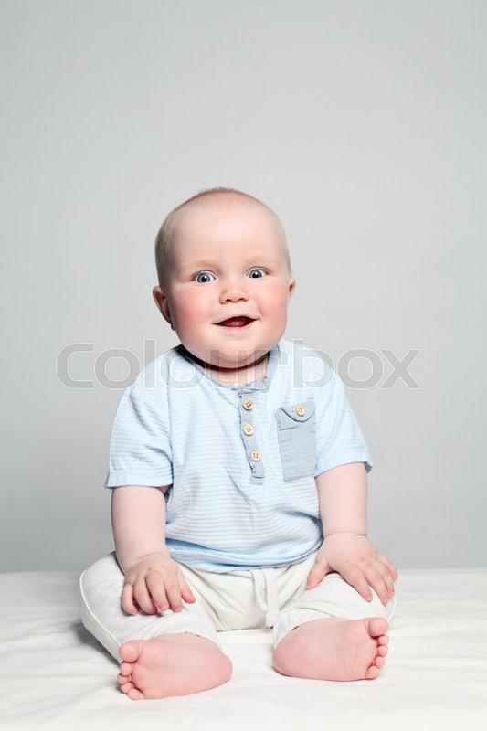 Cute Small Baby Boy Happy Little Stock Photo Colourbox