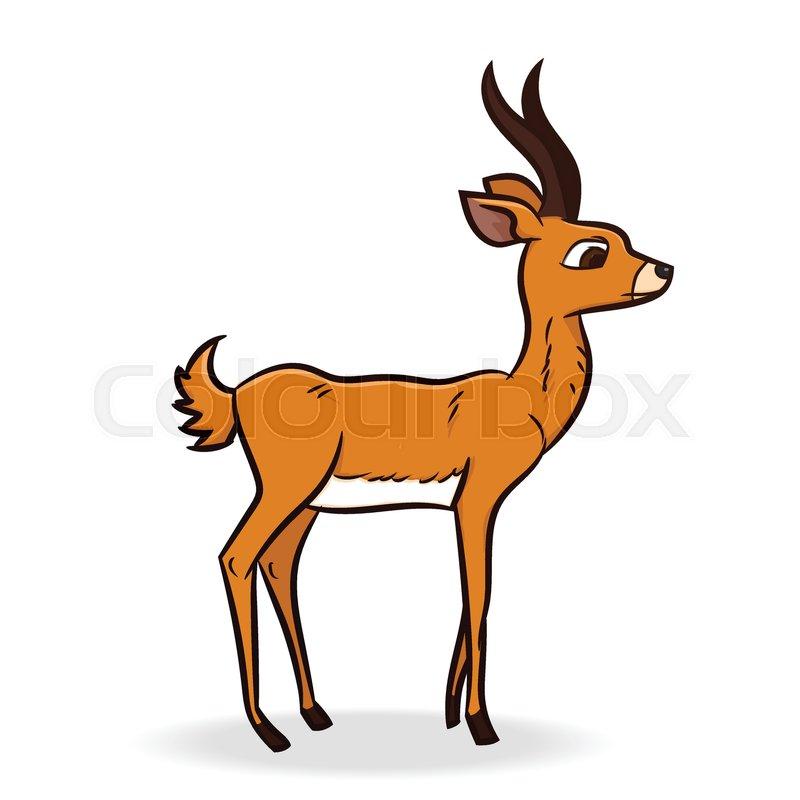 cute antelope cartoon isolated on white background vector rh colourbox com cartoon antelope head antelope cartoon character