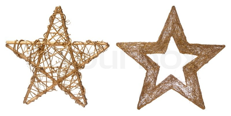 christmas stars decorations isolated on white background stock photo colourbox - Christmas Star Decorations