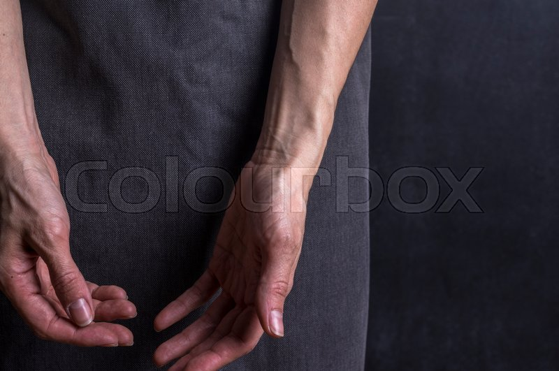 Womans Hands With Blood Veins Emotional Gesture Studio Photography