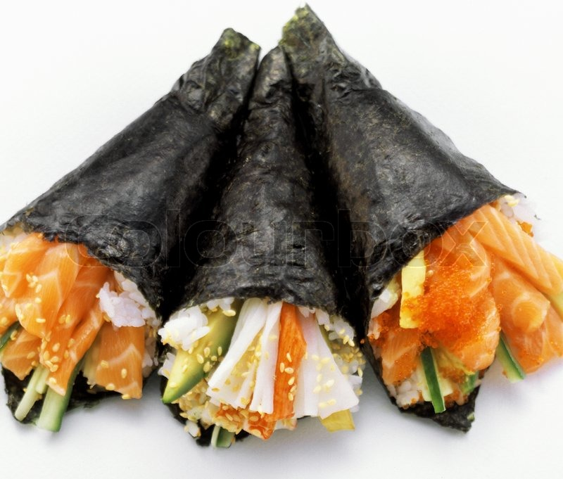 ... hand roll temaki sushi and eat with your hand slammin salmon yelp roll