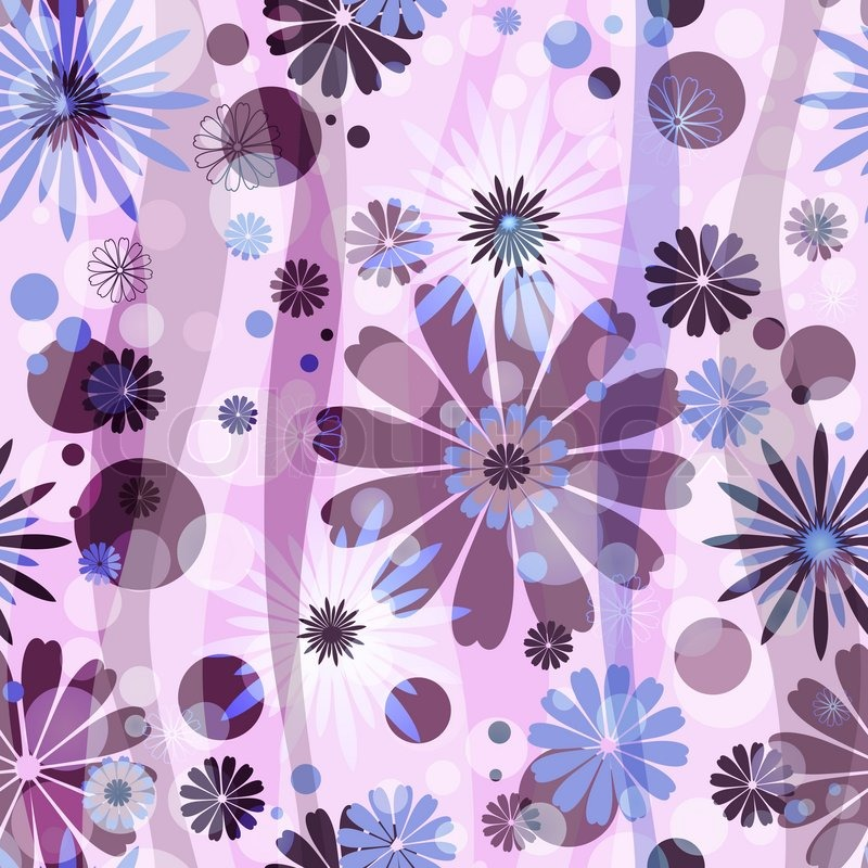 Pink seamless floral pattern with blue purple flowers and circles pink seamless floral pattern with blue purple flowers and circles vector eps 10 stock vector colourbox mightylinksfo
