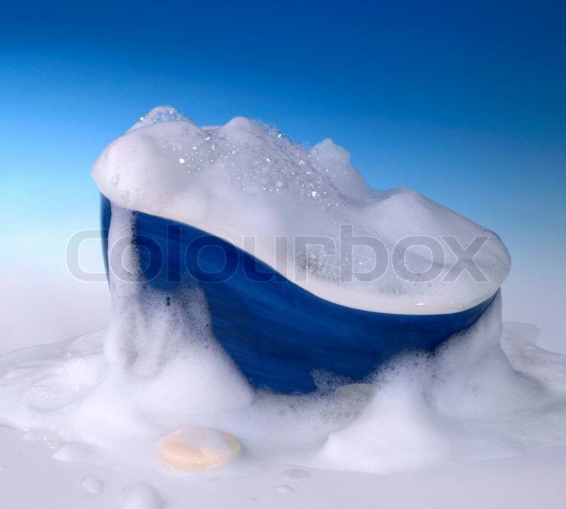 Symbolic Cleaning And Washing Background With Bathtub Soap