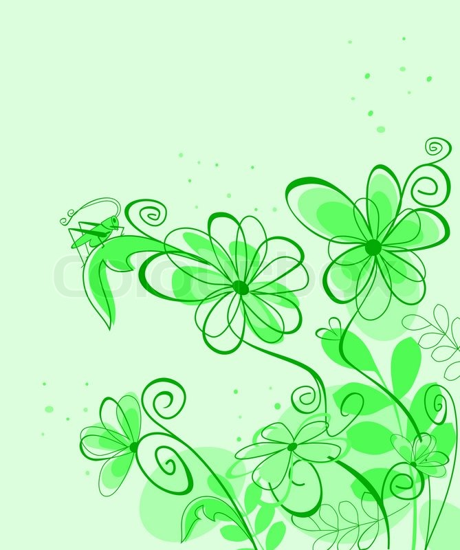 Spring Abstract Floral Background For Stock Vector
