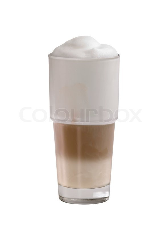 glass of latte macchiato stock photo colourbox. Black Bedroom Furniture Sets. Home Design Ideas