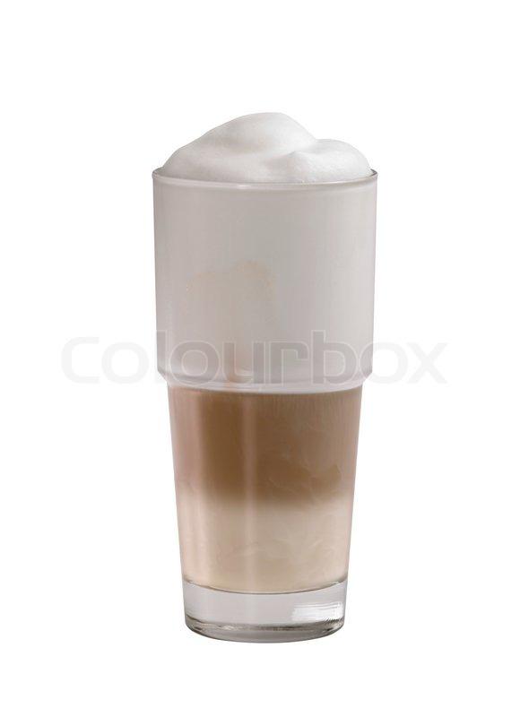 glas latte macchiato stock foto colourbox. Black Bedroom Furniture Sets. Home Design Ideas