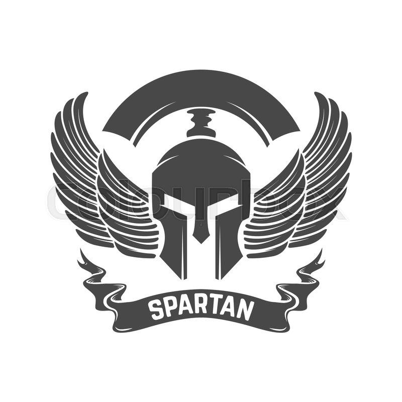 spartan helmet military emblem design element for logo label rh colourbox com spartan helmet logo hat spartan helmet logo sticker