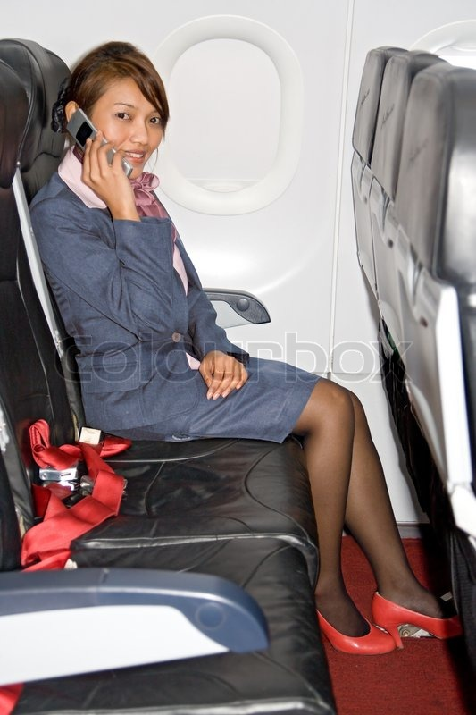 Air stewardess foot loved