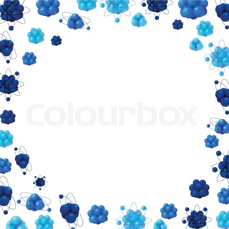 Abstract scientific background with atoms structure. 3d vector ...
