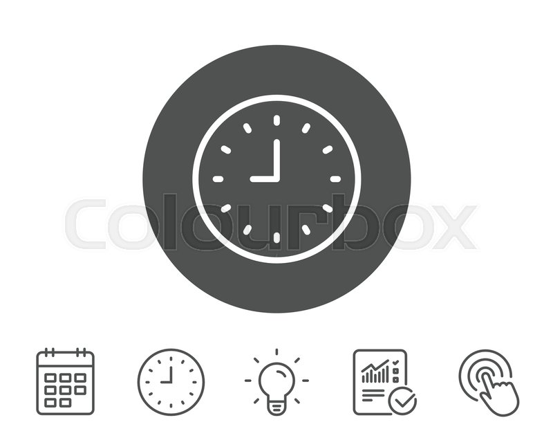 Clock line icon  Time sign  Office     | Stock vector