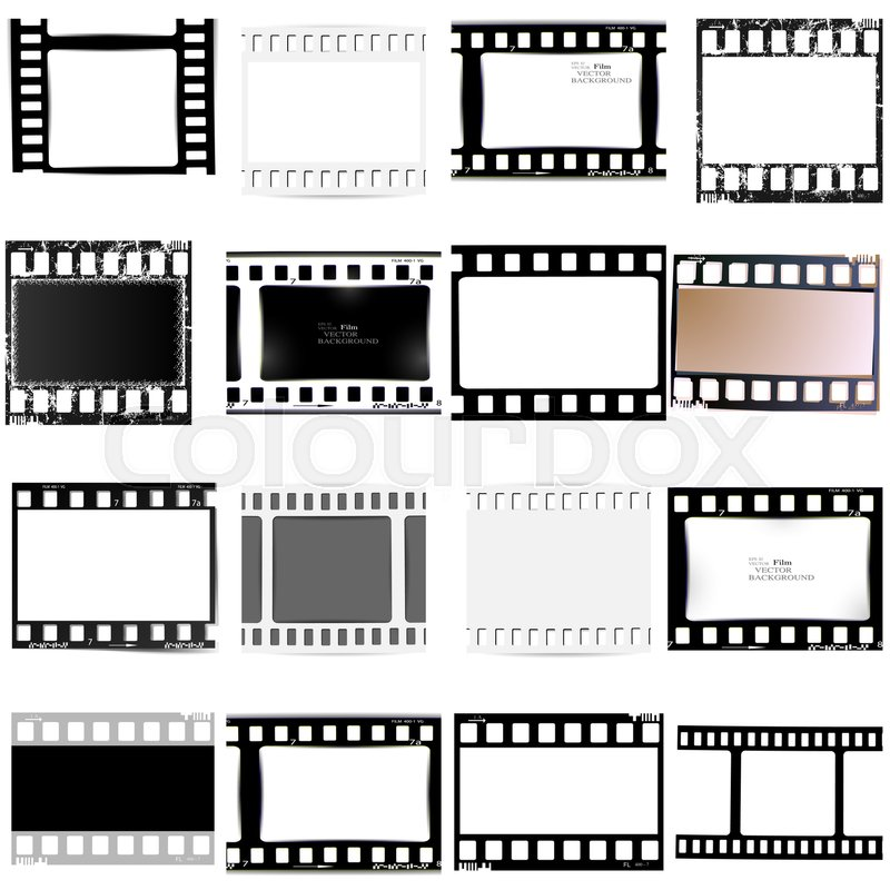 Film, movie, photo, filmstrip set of film frame, illustration ...