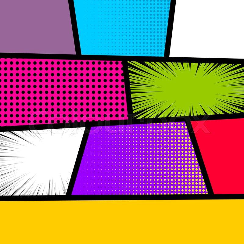 Blank comic strip page