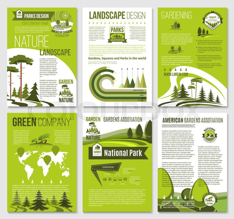 eco environment and green nature landscape company brochure or