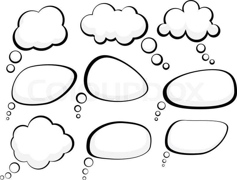 Set of comic style speech bubbles Vector illustration | Vector ...