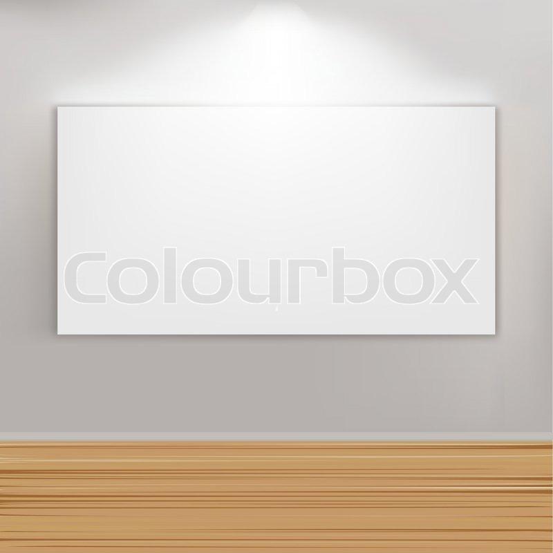 Leer Gemälde Rahmen an der Wand, Vektor-Illustration | Vektorgrafik ...