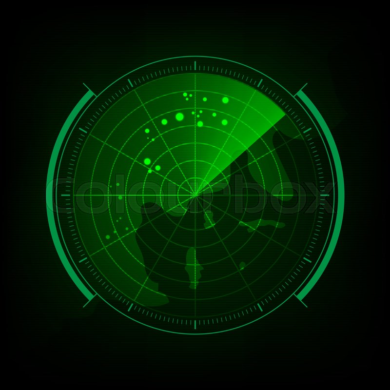 Radar screen with futuristic user interface and digital world map radar screen with futuristic user interface and digital world map stock photo colourbox gumiabroncs Images