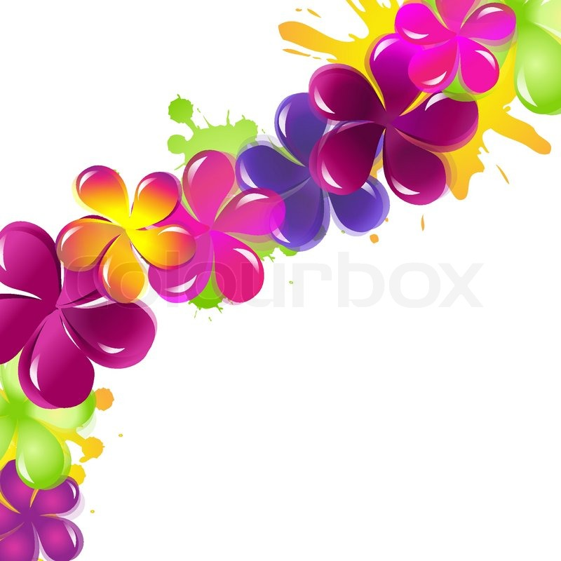 Abstract Flower Background, Vector Illustration | Stock