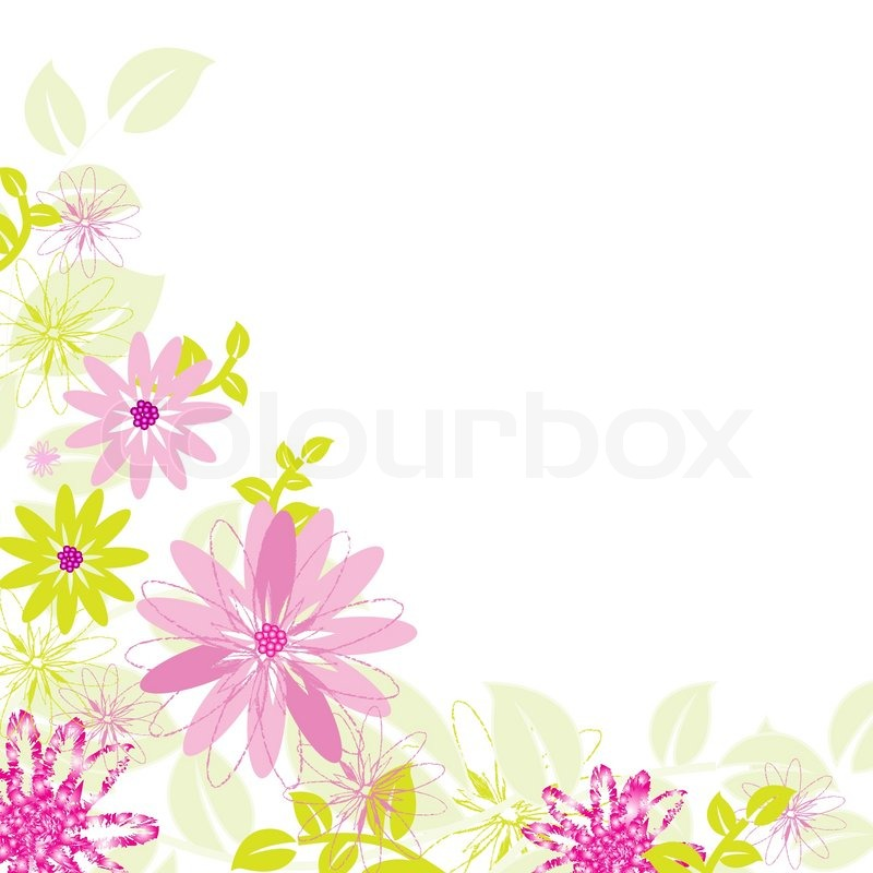 Abstract Flower Background, Isolated On White Background
