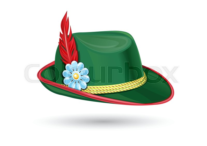 040359024c8 Oktoberfest hat. Tyrolean hat. ...