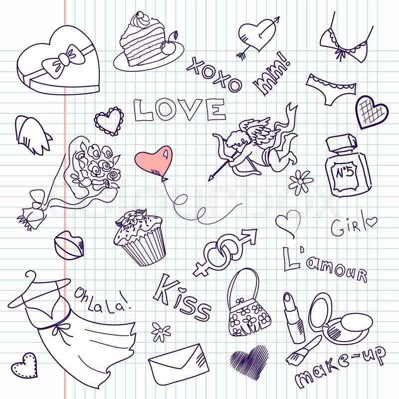 Love And Hearts Coloring Pages