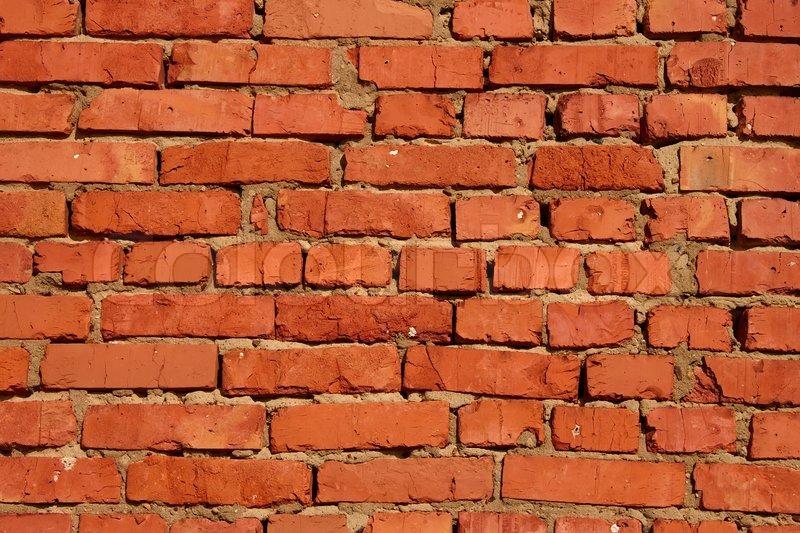 Detail Of Brick Walls Brick Related Clay Sandy Mortar