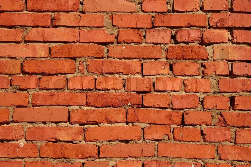 Red Clay Bricks : Detail of brick walls related clay sandy mortar