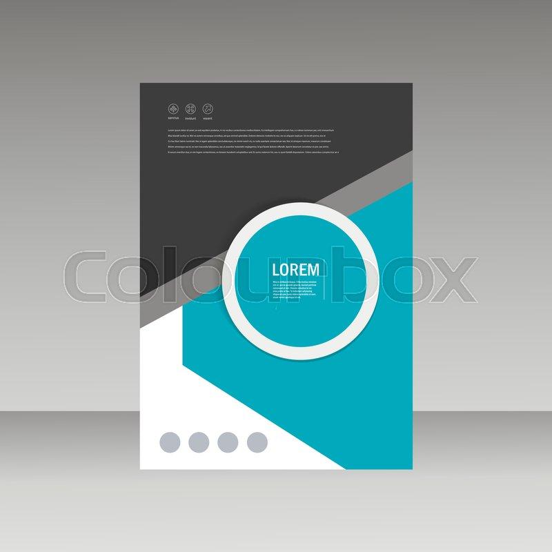 Abstract Brochure Design Template Stock Vector Colourbox