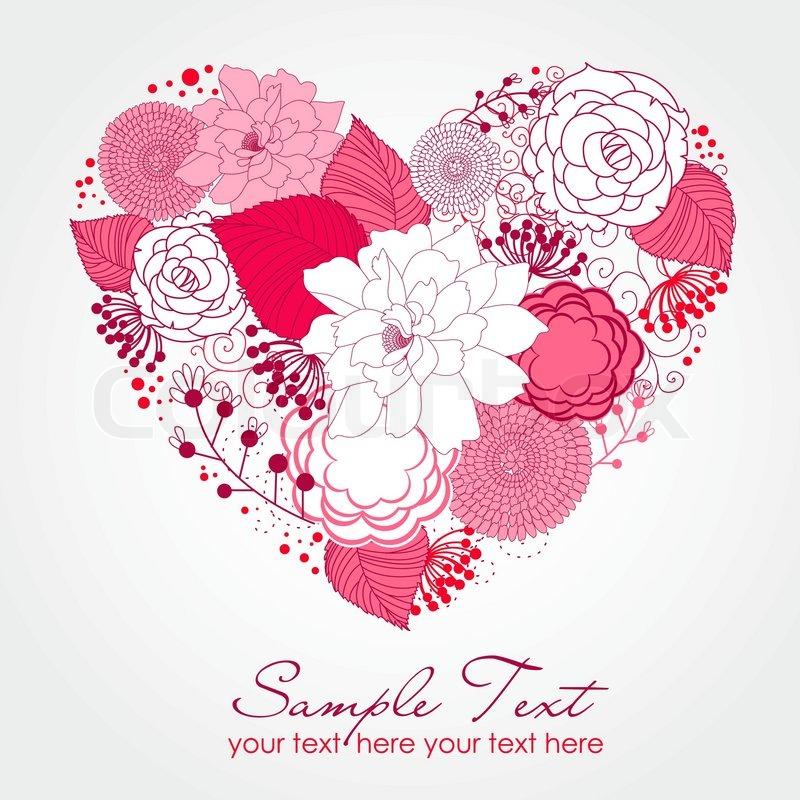 Floral Heart | Stock Vector | Colourbox