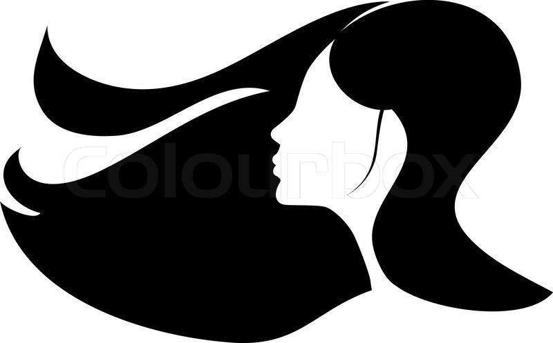 woman with long black hair stock vector colourbox rh colourbox com hair vector illustrator hair vector illustrator
