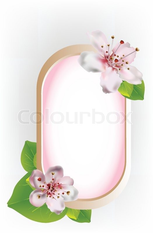 beautiful frame with cherry blossoms stock vector colourbox beautiful frame with cherry blossoms
