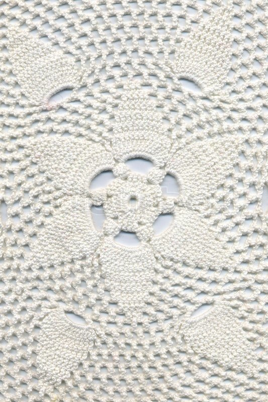 Crocheting By Hand : Hand made crocheted doily Stock Photo Colourbox