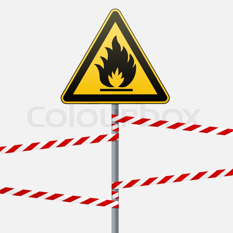 Caution Fire Hazard Combustible Environment Flammable Liquids Or