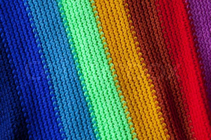 Closeup Of The Texture Of A Knitted Stock Photo