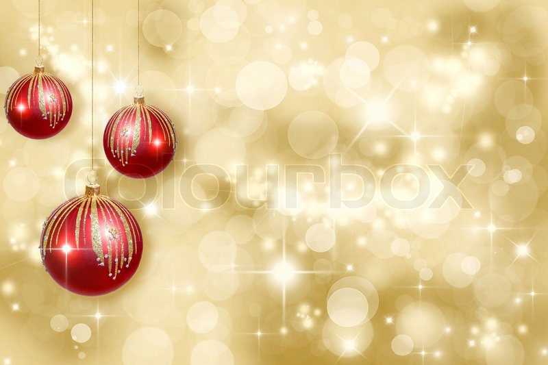 red christmas ornaments on a gold background defocused stock photo colourbox