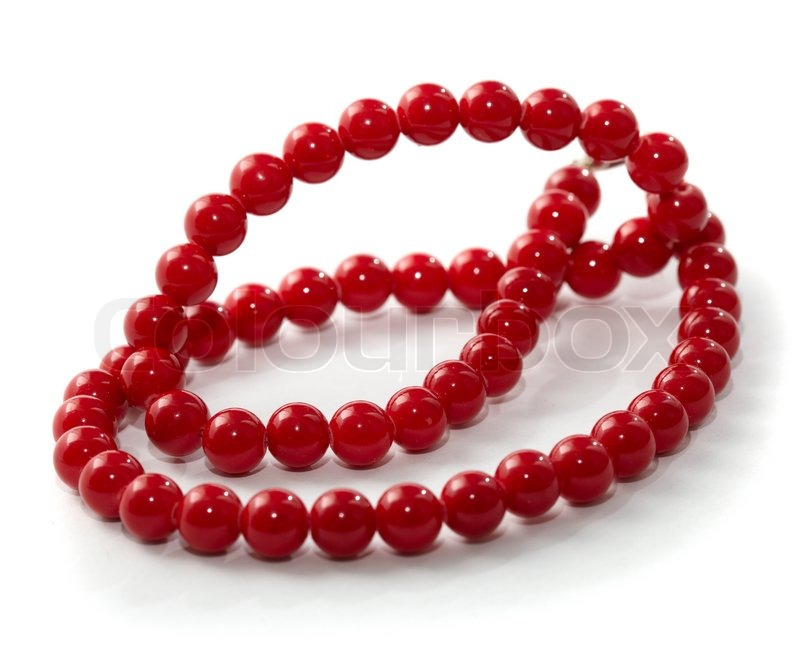 sets pearl detail for red beads set product necklace heavy making jewelry imitation