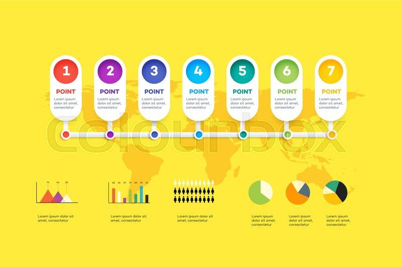 Horizontal Infographic Timeline      | Stock vector | Colourbox