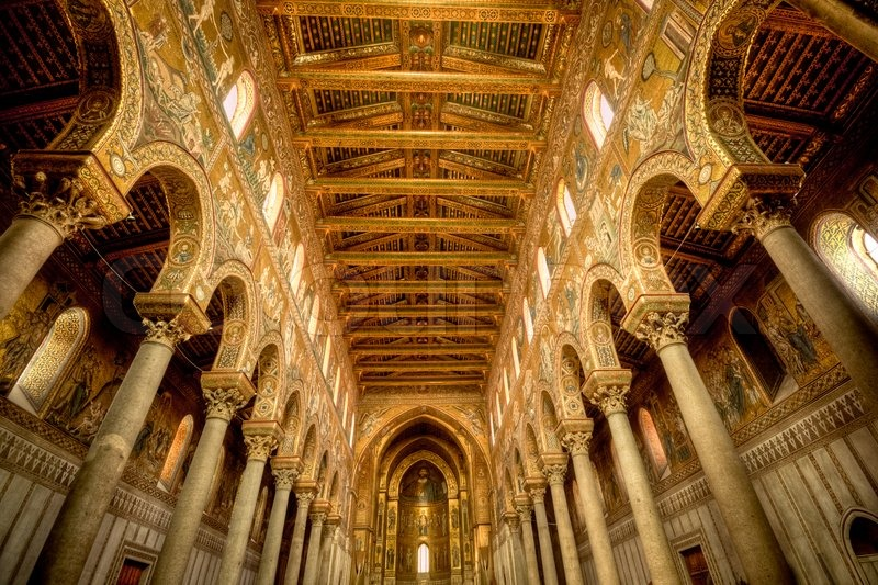 Interior architecture design of church italy stock for Architecture firms in italy