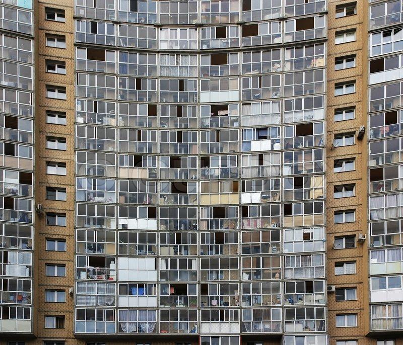 Glass Facade Of An Apartment Building Stock Photo Colourbox
