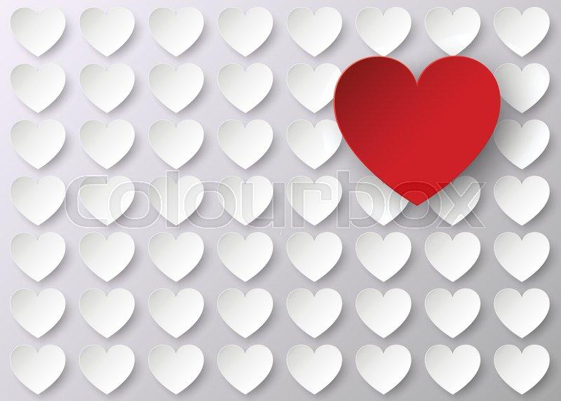 Herz, romantik, vorlage | Vektorgrafik | Colourbox