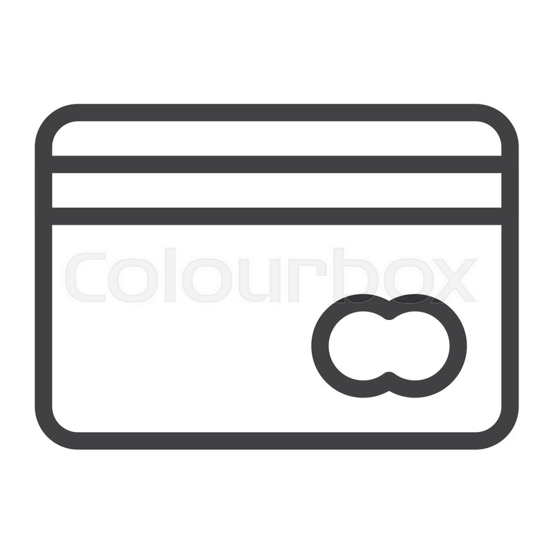 Credit Card Line Icon Outline Vector Sign Linear Style Pictogram