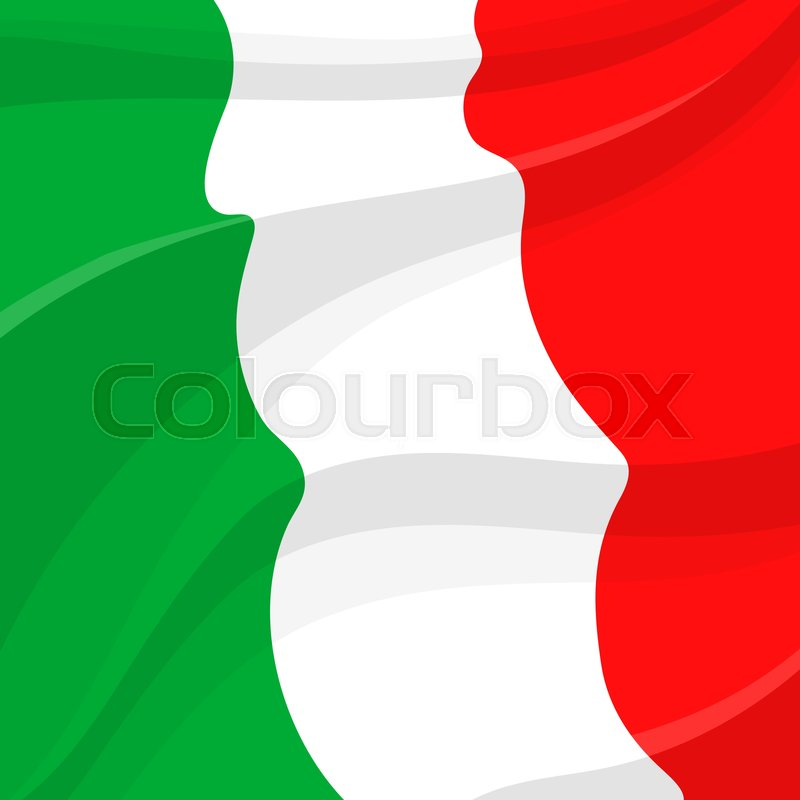 Italy Flag Of Green White And Red Stock Vector Colourbox